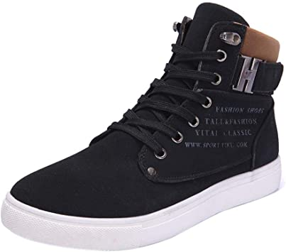 WWricotta LuckyGirls Zapatillas Casual Hombres Botas Altas Friegue Cómodas Calzado Andar Zapatos Planos Bambas con Cordones: Amazon.es: Deportes y aire libre