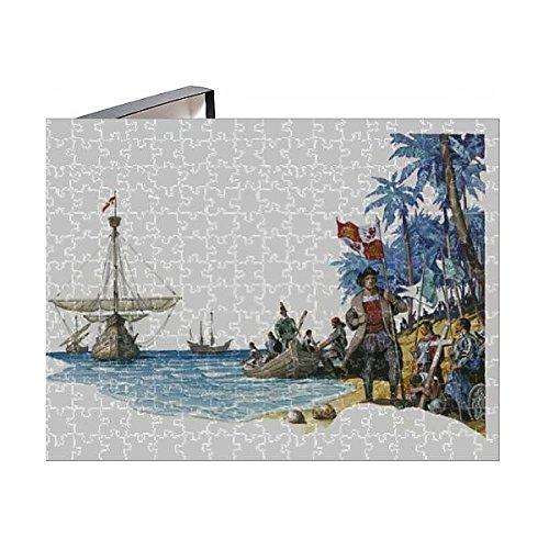 (Media Storehouse 252 Piece Puzzle of Illustration of Christopher Columbus with Boats Santa Maria, Pinta (13545317))