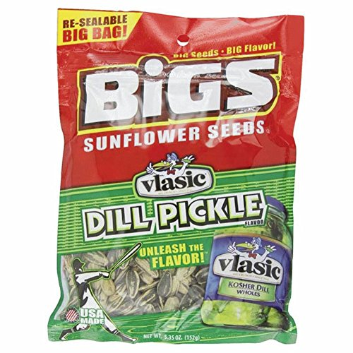 BIGS Vlasic Dill Pickle Sunflower Seeds, 5.35 Ounce - Bigs Dill Pickle Sunflower Seeds