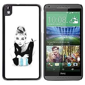 For HTC DESIRE 816 , S-type® Smoking Woman Movie Star Actress - Arte & diseño plástico duro Fundas Cover Cubre Hard Case Cover