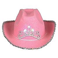 Sombrero de vaquero de tiara parpadeante de niño de Rhode Island, novedad rosa