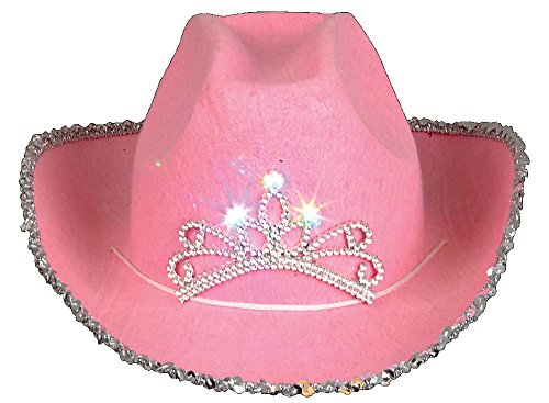 Rhode Island Novelty Child Pink Blinking Tiara Cowboy -