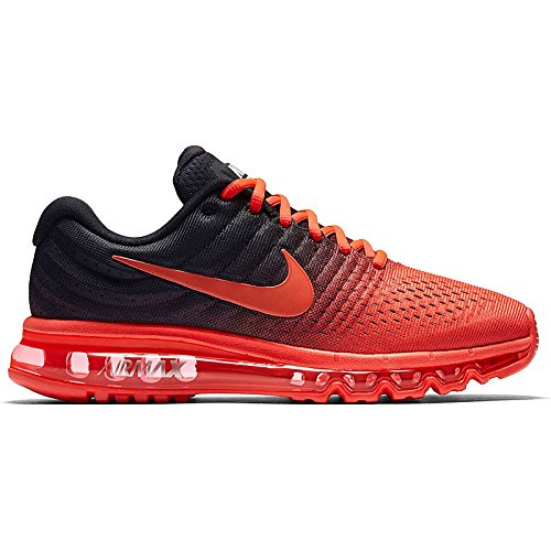 Nike Mens Air Max 2017 Running Shoes Bright Crimson/Total Crimson/Black 849559-600 Size 8.5 849559-600