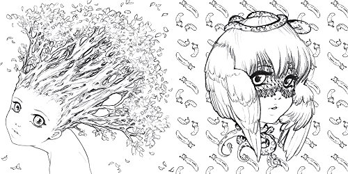 Pop Manga Coloring Book: A Surreal Journey Through a Cute, Curious ...