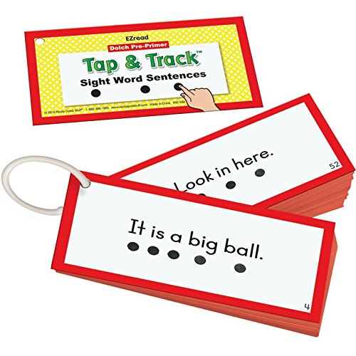 Really Good Stuff EZRead Dolch Pre-Primer Tap & Track Sight Word Sentences - Pre Primer Dolch Sight Words