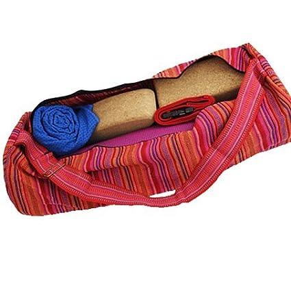 Funda para Yoga algodón rosa rayas - Yoga Bolsa para ...