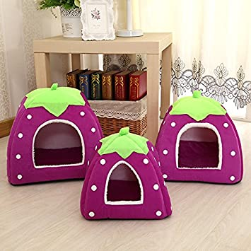 housesweet Caseta para Mascotas de Fresa Supersuave Igloo para Perro, Gato, casa, Perro, a la Moda, Cesta de cojín: Amazon.es: Productos para mascotas