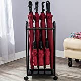 Umbrella Storage Rack Household Umbrella Bucket Folding Umbrella Iron Umbrella Stand Hotel Umbrella Stand 362568cm ( Color : Black )