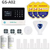 Golden Security GS-A02 Wireless Home & Besiness Alarm System ,DIY Kit ,Door /Window Contact Sensors , App Controlled by Android & iOS Smartphone ,Compatible with Amazon Alexa.