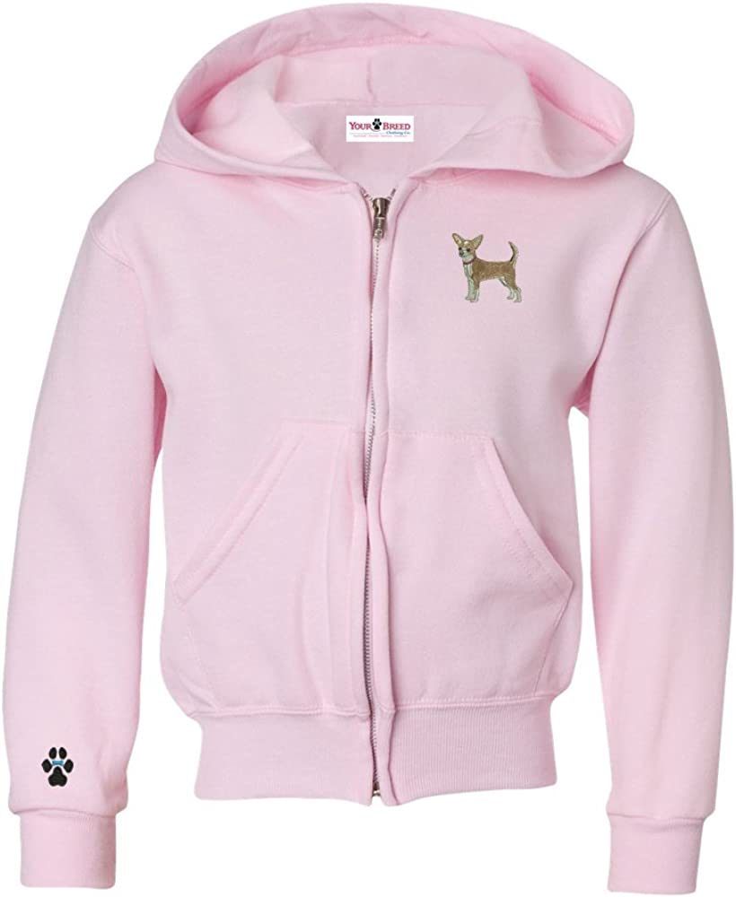 YourBreed Clothing Company Chihuahua Youth Full Zip Hooded Sweatshirt