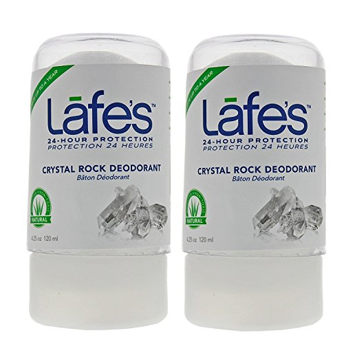 (Lafe's Crystal Rock Deodorant (Pack of 2) With Natural Mineral Salts, 4.25 oz Each)