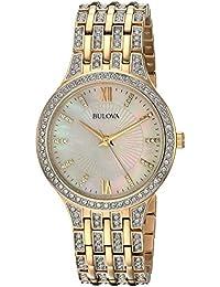 Women's 98L234 Swarovski Crystal Gold Tone Bracelet Watch