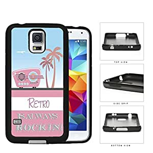 Retro Is Always Rockin Pink Radio Rubber Silicone TPU Cell Phone Case Samsung Galaxy S5 SM-G900