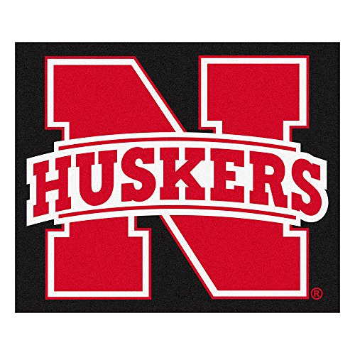 FANMATS NCAA University of Nebraska Cornhuskers Nylon Face Tailgater Rug