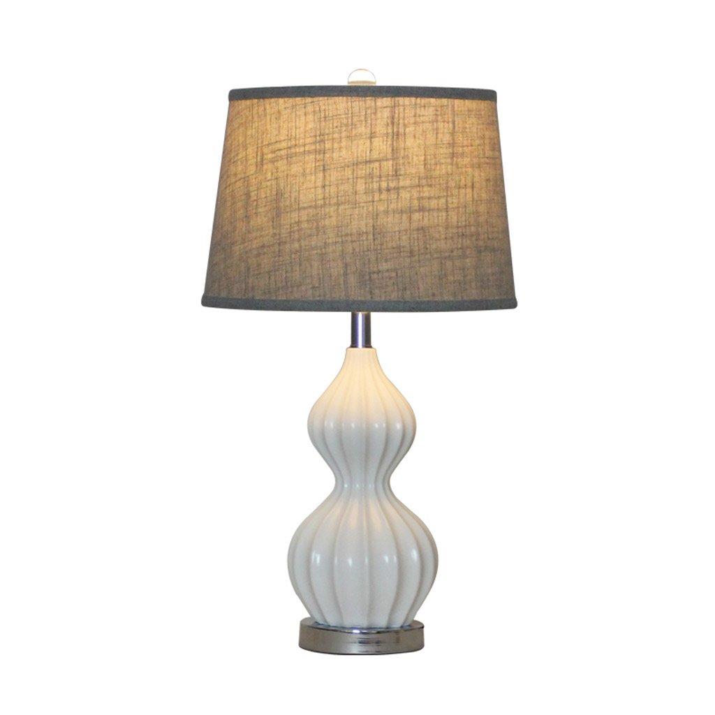 テーブルランプ アメリカのシンプルな装飾モダンな創造的なリビングルームのベッドサイドランプ A+ ( 色 : 白 ) B0786X9QS5 16981  白