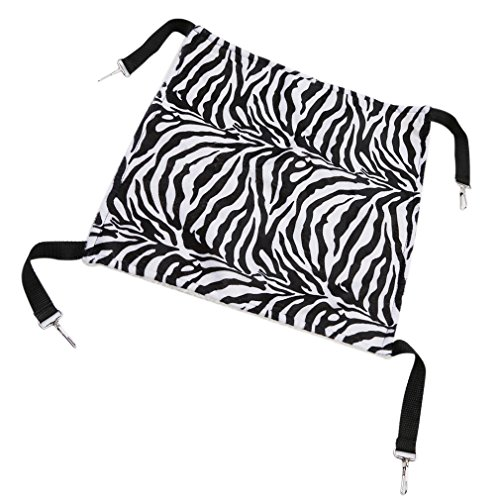 SOURBAN Pet Cage Hammock Small Pet Animal Small Dog Cat Kitty Ferret Hanging Hammock Bed Sleepy Pad Comforter Zebra Pattern
