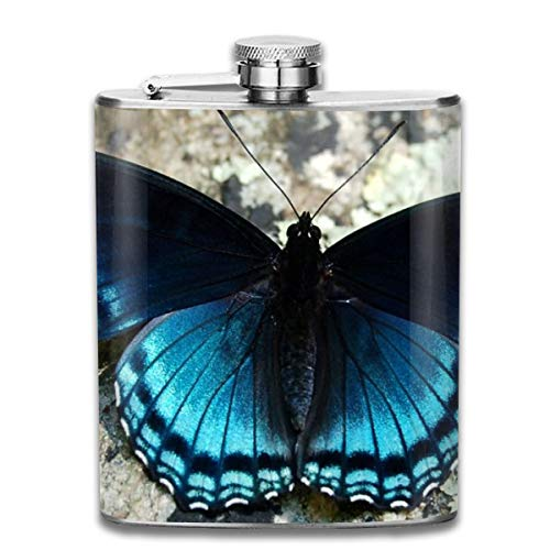 - FTRGRAFE Beautiful Butterfy Wallpaper Outdoor Portable 304 Stainless Steel Leak-Proof Alcohol Whiskey Liquor Wine 7OZ Pot Hip Flask Travel Camping Flagon for Man Woman Flask Great Little Gift