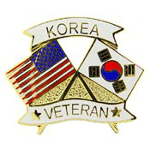 - PINS- KOREA, VETERAN W/FLAGS (1-1/4