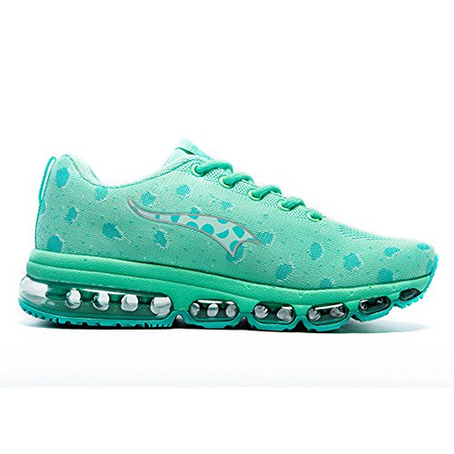 green Sports Shoes Fitness Trainers Walking And Knit Running Shoes Women's Air Casual Cushion Men's Onemix nfFZwq6W