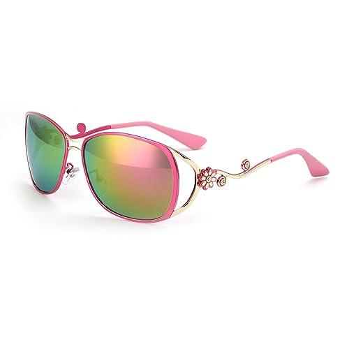 Menton Ezil  Margarita  Gafas de Sol Cuadradas Polarizadas con el Diseño de Moda para Niñas y Muje...
