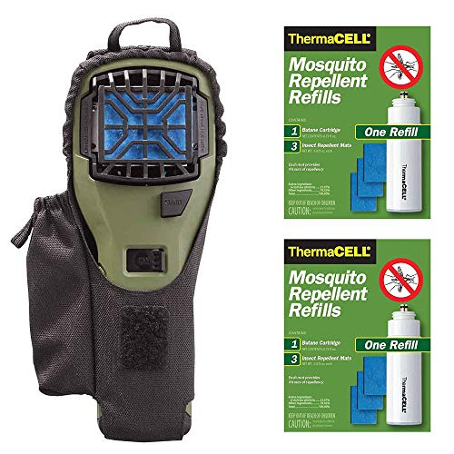 - Thermacell Camper's Kit : Mosquito Repellent Appliance Olive, Holster Olive+ 2 single refills