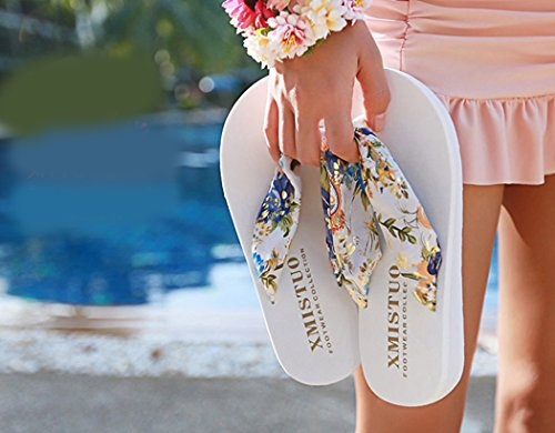 Fondo Pantofole White da Flops da di Fascigirl Spiaggia Infradito Flip Antiscivolo Spesso Estiva Sandali S Donna Boemo gP8xZq