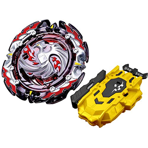 Bey Spinning Tops Blade Burst Chouzetsu Booster B-131 Dead Phoenix.0.at. Bey Battle Blades Stater Set with B-88 Two-Way Bey String Launcher Golden High Performance Battling Top