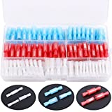 Hilitchi 130-Pcs 24-10AWG Assorted Nylon Fully Insulated Female & Male Bullet Butt Wire Crimp Connector Terminals Assortment Kit