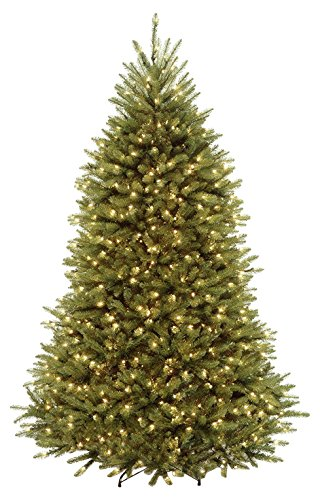 Akari Decor 7.5' Artificial Christmas Tree With 750 Led Prelit Clear Warm Lights Stand, Indoor Outdoor Hinged With Ul Power, Warm White by Akari
