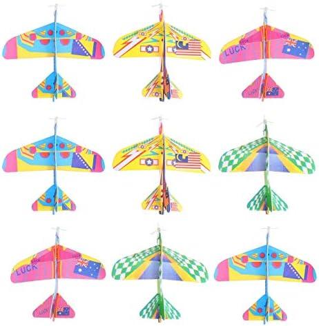 TOYANDONA 12 stks Vliegtuig Speelgoed Gooien Schuim Vliegtuig Glider Vliegtuig Kids Flying Game Speelgoed Styrofoam Vliegtuigen Jet voor Outdoor Sport Speelgoed Verjaardagscadeaus Willekeurige Kleur