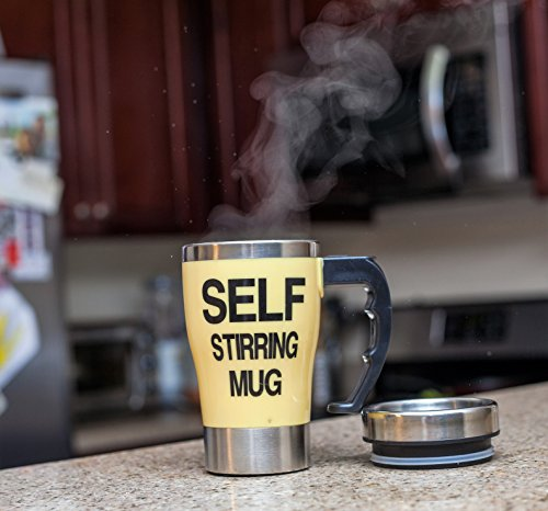 Self Stirring Coffee Mug(Yellow) - 3