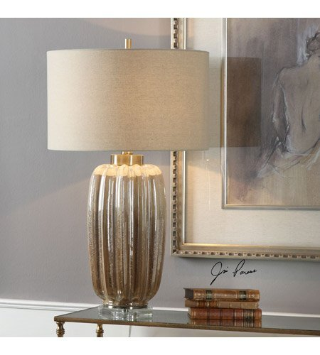 Table Lamps 1 Light with Ribbed Ceramic Steel Crystal Round Hardback Drum 30 inch 150 -