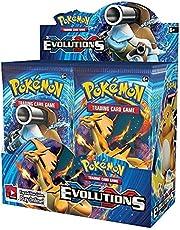Pokemon-kaarten Display Booster Cards Box TCG: Zwaard Shieldunbroken Obligaties Collectie Trading English Card Game 324 Kaarten/doos (Color : Evolutions)