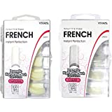 Vivace 2Pack Natural/Clear French 100 Acrylic False Nail Tips (Total 200Tips) 10Sizes For Nail Salon Nail Shop (French)