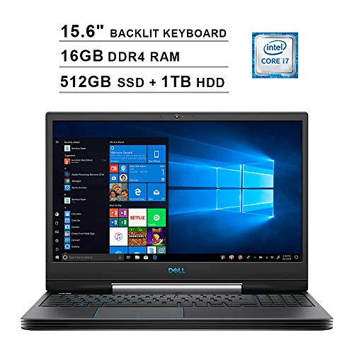 2019 Newest Dell G5 15 5590 15.6 Inch FHD 1080p Gaming Laptop (Inter 6-Core i7-9750H up to 4.5GHz, 16GB DDR4 RAM, 512GB SSD (Boot) + 1TB HDD, GeForce GTX 1660 Ti 6GB, Backlit KB, Webcam, Windows 10)