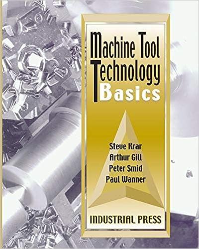 Machine Tool Technology Basics Steve Krar 9780831131340 Amazon