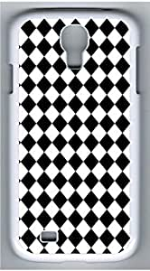 Samsung Galaxy S4 I9500 White Hard Case - Black And White Prism 3 Galaxy S4 Cases