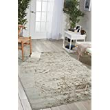 "Nourison Euphoria EUP03 Traditional Rustic Vintage Grey Area Rug 5 Feet 3 Inches by 7 Feet 3 Inches, 5'3"" x 7'3"""