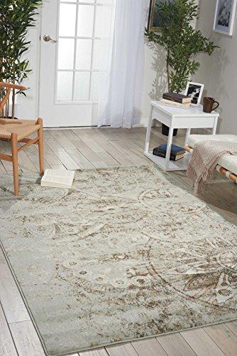 (Nourison Euphoria EUP03 Traditional Rustic Vintage Grey Area Rug 2 Feet by 3 Feet, 2' x 3')