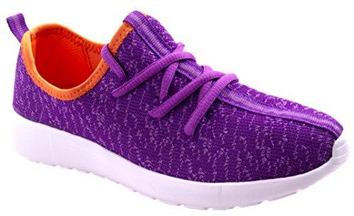 Link Per Sempre Donna Rest-37 Allacciatura Leggera Snella / Moda Sneakers Con Colori Duo Viola