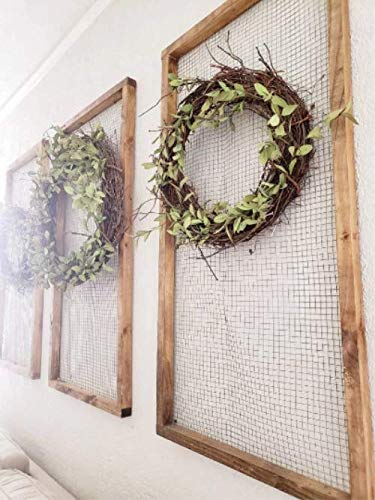 Amazon Com Chicken Wire Frame Jewelry Organizer Large Farmhouse Wall Decor Chicken Wire Frames Farmhouse Decor Farmhouse Wall Decor Handmade