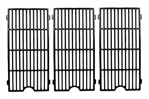 Hongso PC0193 Universal Cast Iron Cooking Grid Replacement for Select Gas Grill Models by Perfect Flame, Master Forge, Jenn Air and Others, Set of 3