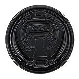 Dart 16Rclblk Black Optima Reclosable Lid For 16 Series Foam Cups 1 Pack Of 100