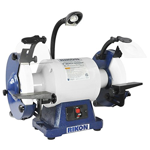 RIKON Power Tools 80-808 8 inch 1 hp Low Speed 1725 RPM Bench Grinder