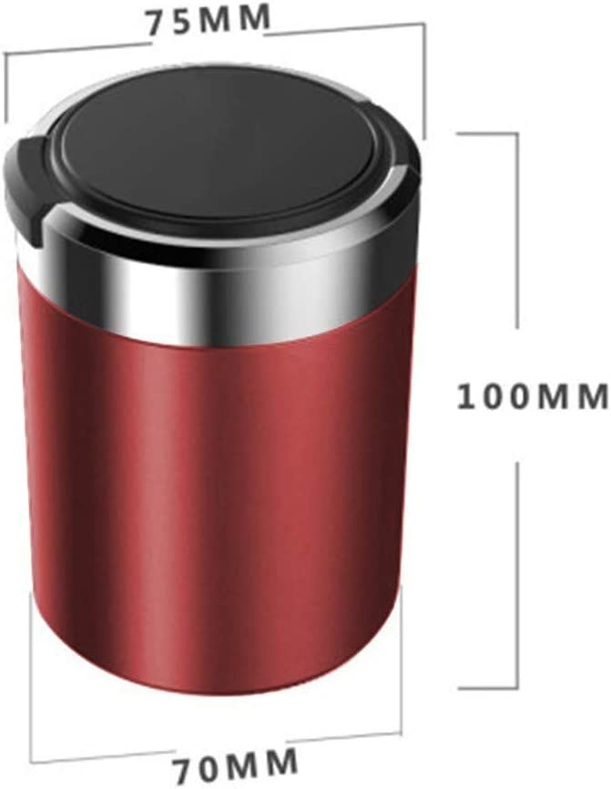 Compatible With VOLVO Stylish Simple Car Ashtray Car Trash Can Can Be Used In The Car Home Office Outdoor Portable Car Ashtray Portable Trash Can Color : Gold, Size : V40