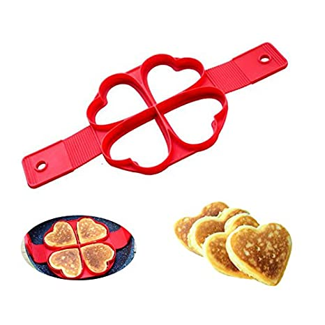 Nueva silicona huevo anillo molde forma de corazón Pancake molde antiadherente Pancake fácil desayuno eléctrica cocina Gadget: Amazon.es: Hogar