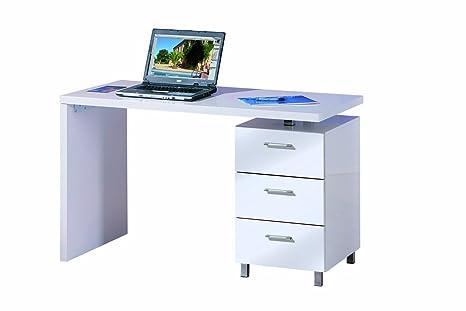 Links 20900315 John escritorio 3 cajones color blanco 120 x 60 x ...