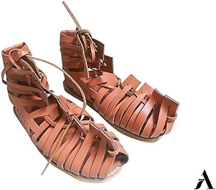 AnNafi Mens Gladiator Leather Sandal