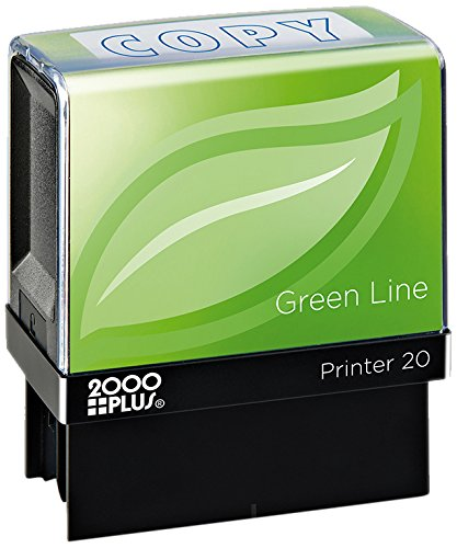 (2000 PLUS Green Line Self-Inking Message Stamp, Copy, 80% Recycled, 1 1/2