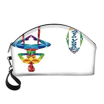 Amazon.com : Yoga Small Portable Cosmetic Bag, Aerial Aero ...